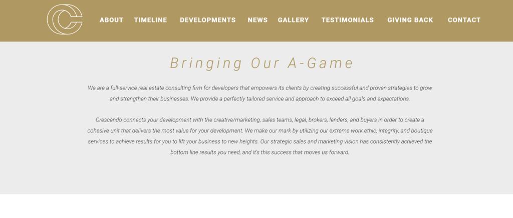Crescendo Website 2